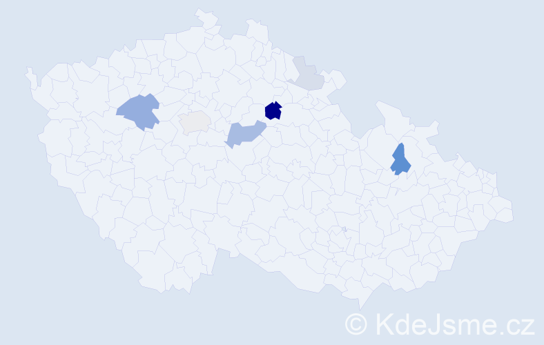 Příjmení: 'Ikrényi', počet výskytů 16 v celé ČR