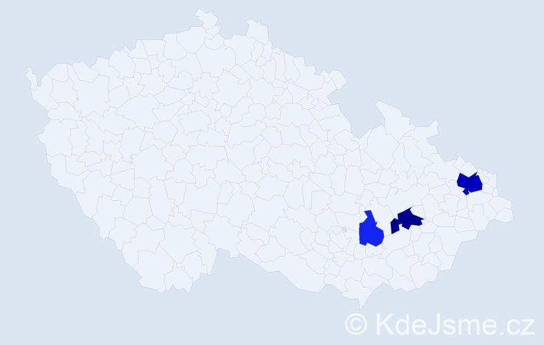 Příjmení: 'Iwoniaková', počet výskytů 8 v celé ČR