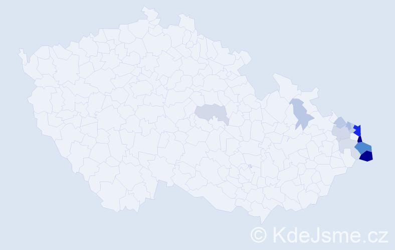 Příjmení: 'Filipczyk', počet výskytů 37 v celé ČR