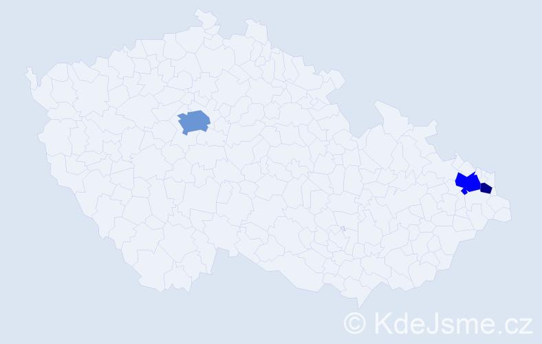Příjmení: 'Derevjaníková', počet výskytů 6 v celé ČR