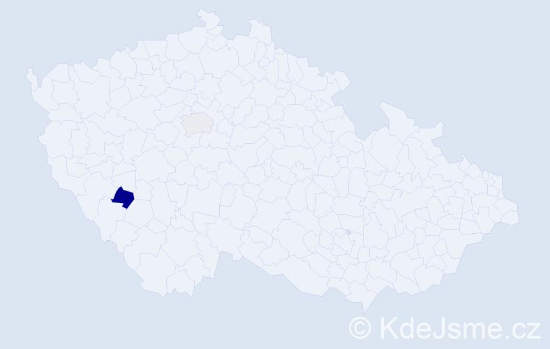 Příjmení: 'Kalíš', počet výskytů 5 v celé ČR