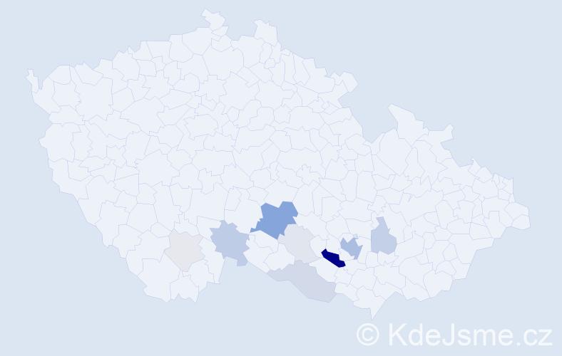 Příjmení: 'Haičman', počet výskytů 40 v celé ČR