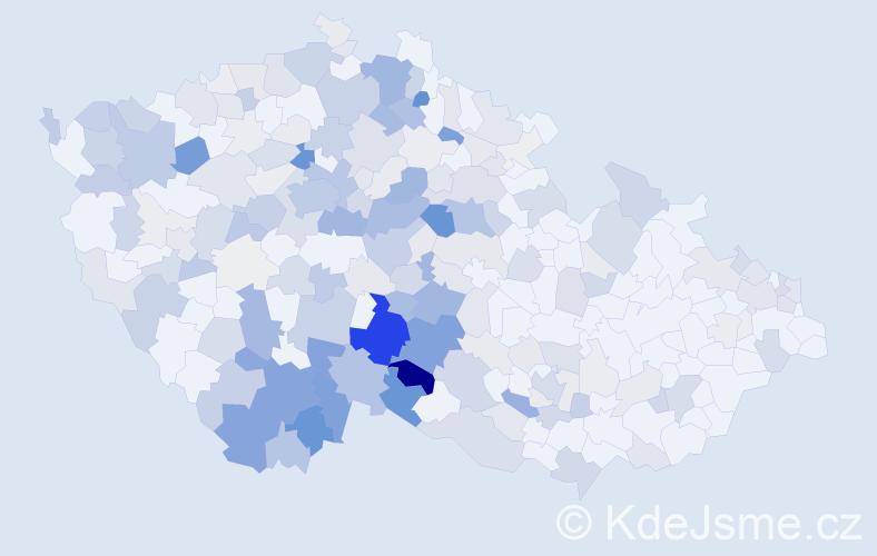 Příjmení: 'Bína', počet výskytů 885 v celé ČR