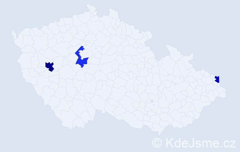 Příjmení: 'Gleitzová', počet výskytů 4 v celé ČR