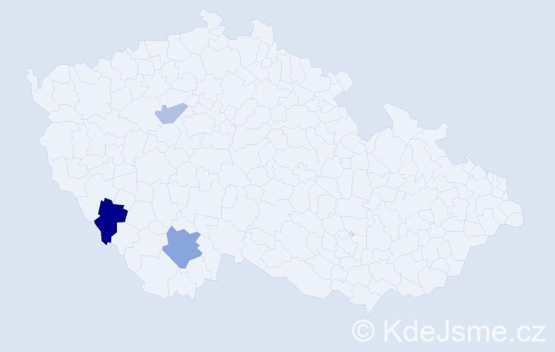 Příjmení: 'Kampoš', počet výskytů 5 v celé ČR