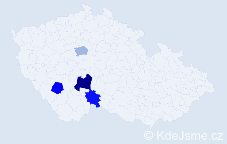 Příjmení: 'Konárovský', počet výskytů 7 v celé ČR