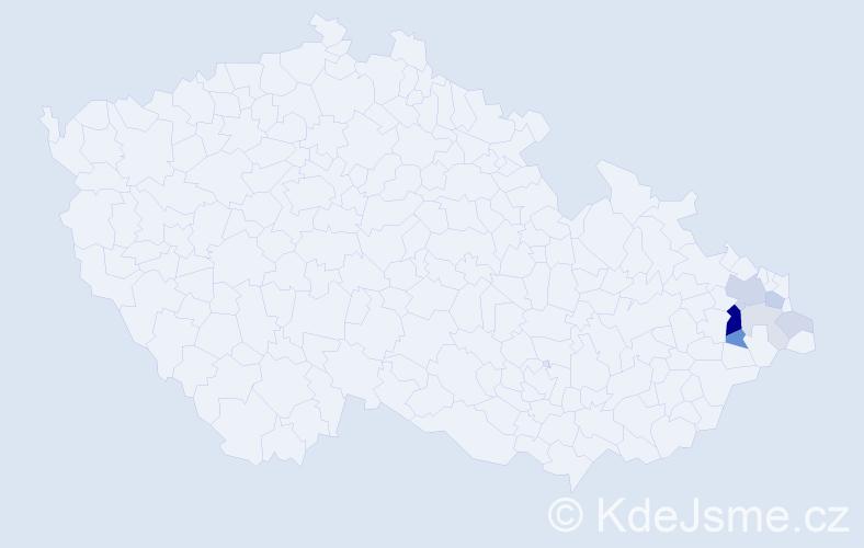 Příjmení: 'Golik', počet výskytů 21 v celé ČR
