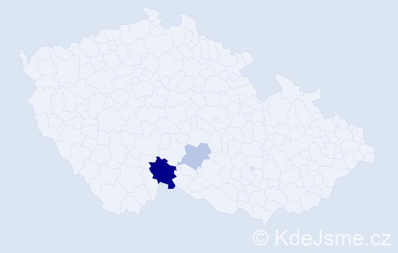 Příjmení: 'Ayrerová', počet výskytů 6 v celé ČR