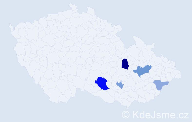 Příjmení: 'Katovský', počet výskytů 15 v celé ČR