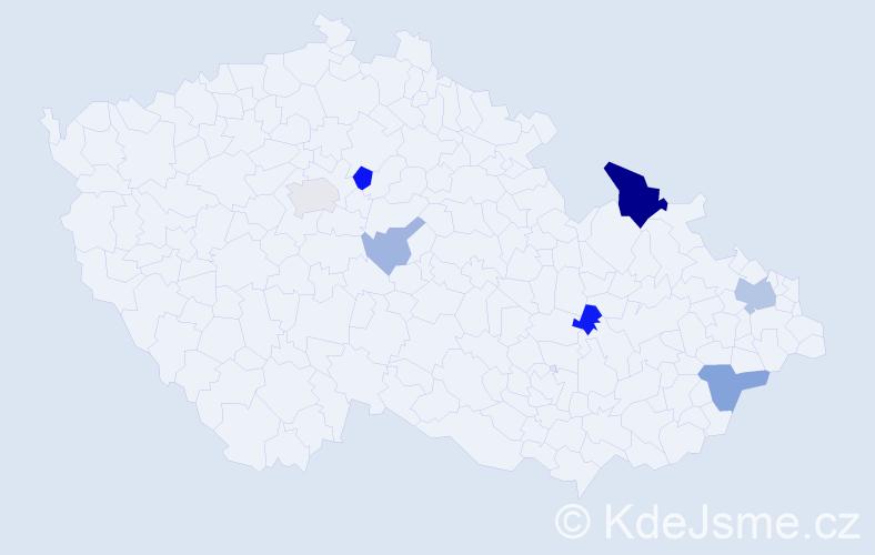 Příjmení: 'Čopjan', počet výskytů 16 v celé ČR