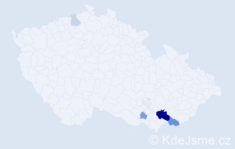 Příjmení: 'Fiamoli', počet výskytů 23 v celé ČR