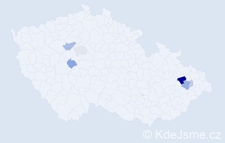 Příjmení: 'Barnincová', počet výskytů 15 v celé ČR
