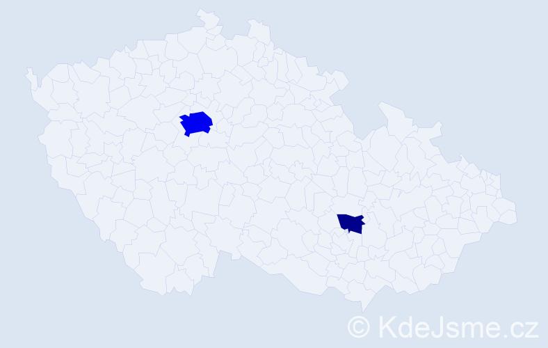 Příjmení: 'Husseinová', počet výskytů 11 v celé ČR