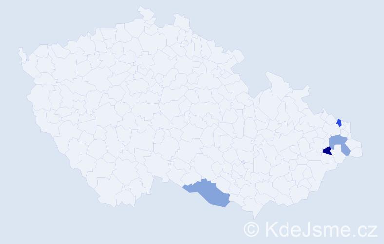 Příjmení: 'Čuportová', počet výskytů 4 v celé ČR