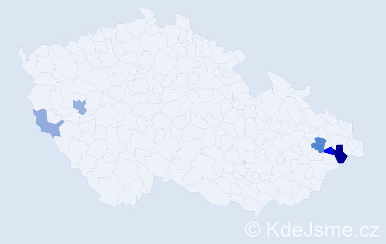 Příjmení: 'Brachniak', počet výskytů 12 v celé ČR