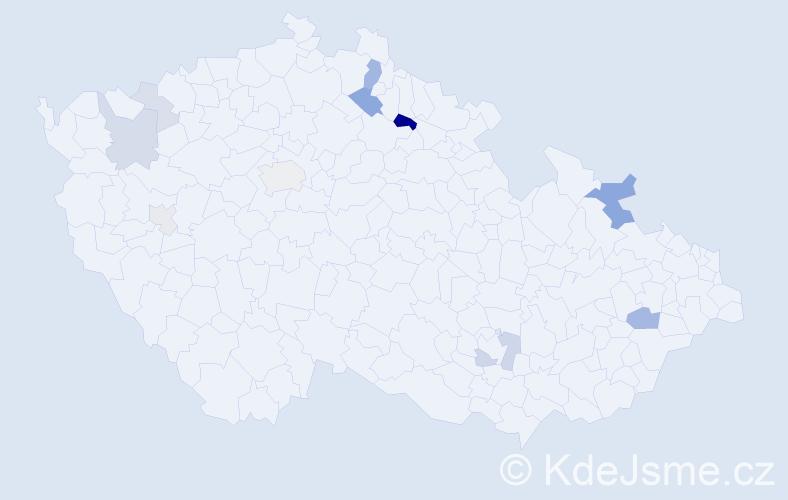 Příjmení: 'Cogan', počet výskytů 28 v celé ČR