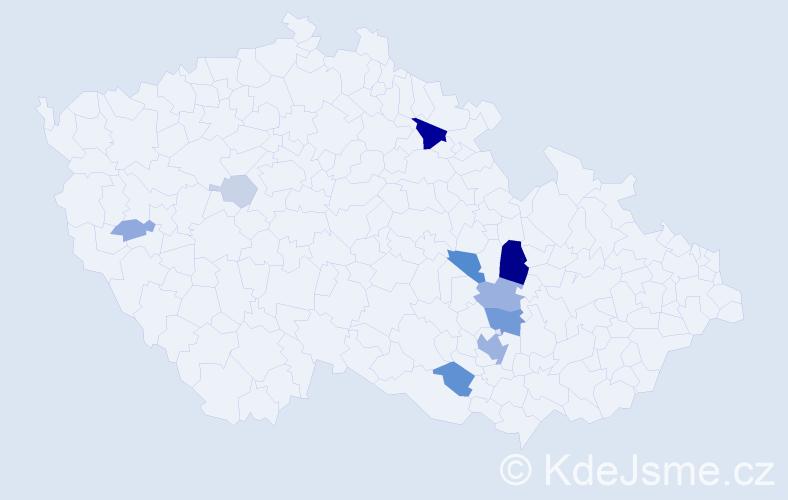Příjmení: 'Biberle', počet výskytů 33 v celé ČR