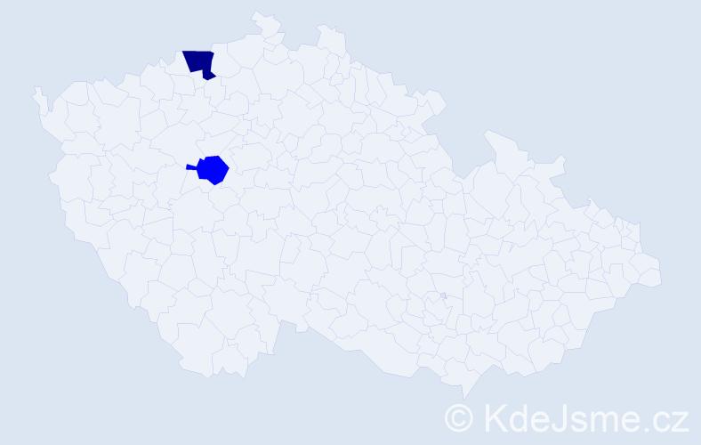 Příjmení: 'Halinský', počet výskytů 6 v celé ČR