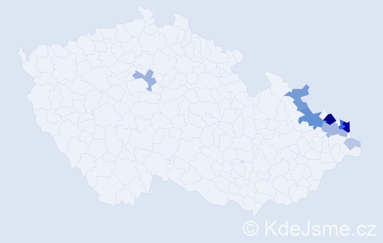 Příjmení: 'Hudeczková', počet výskytů 37 v celé ČR