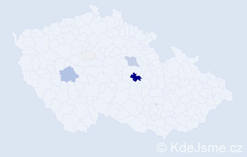 Příjmení: 'Kembický', počet výskytů 10 v celé ČR