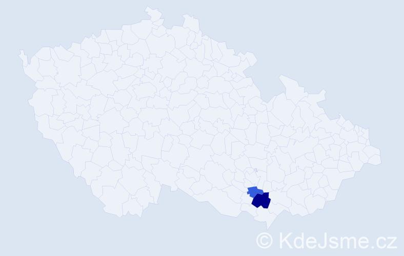 Příjmení: 'Čumpa', počet výskytů 3 v celé ČR