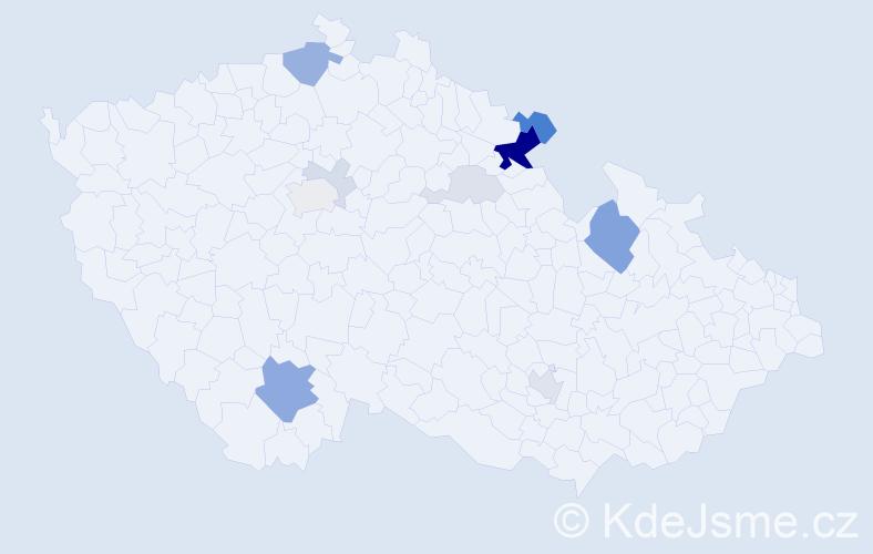 Příjmení: 'Gennertová', počet výskytů 34 v celé ČR