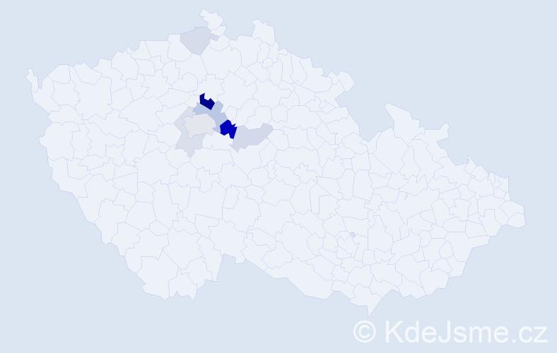 Příjmení: 'Bossanyi', počet výskytů 20 v celé ČR