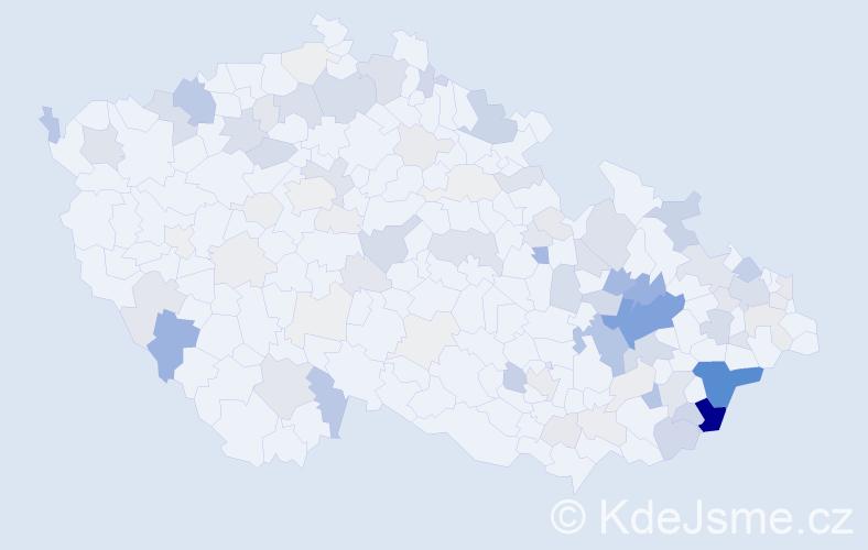 Příjmení: 'Janošíková', počet výskytů 326 v celé ČR