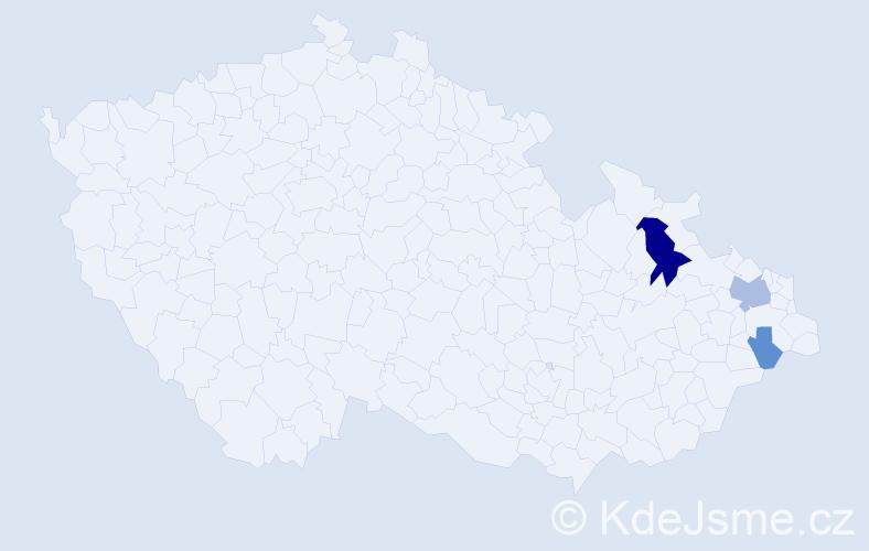 Příjmení: 'Fiálková', počet výskytů 8 v celé ČR