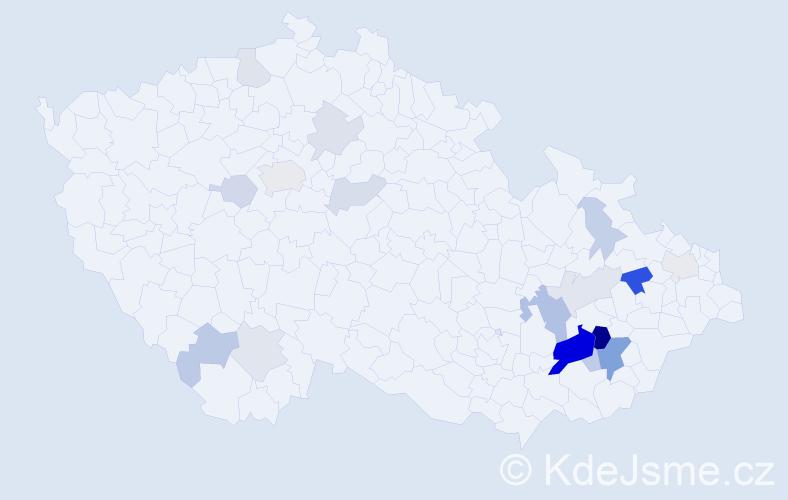 Příjmení: 'Denešová', počet výskytů 47 v celé ČR