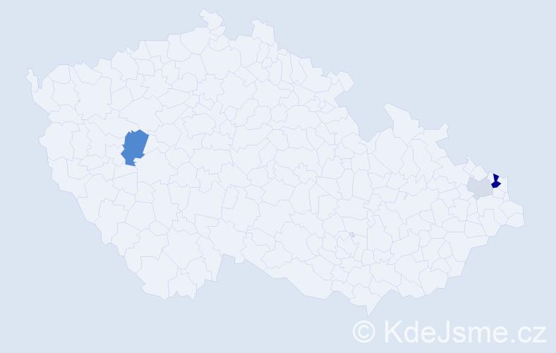 Příjmení: 'Andil', počet výskytů 7 v celé ČR