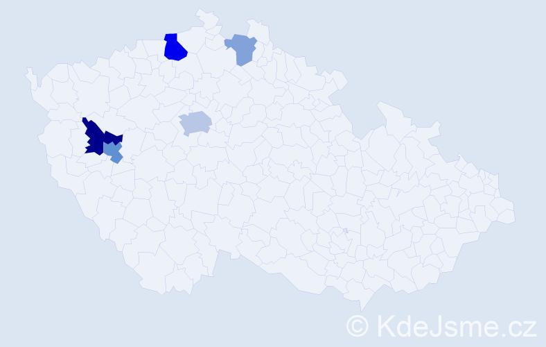 Příjmení: 'Ebermann', počet výskytů 11 v celé ČR