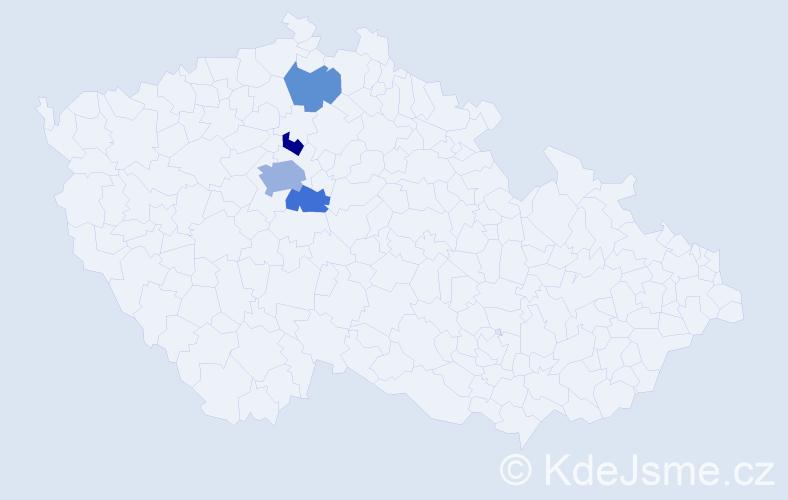 Příjmení: 'Enöklová', počet výskytů 7 v celé ČR