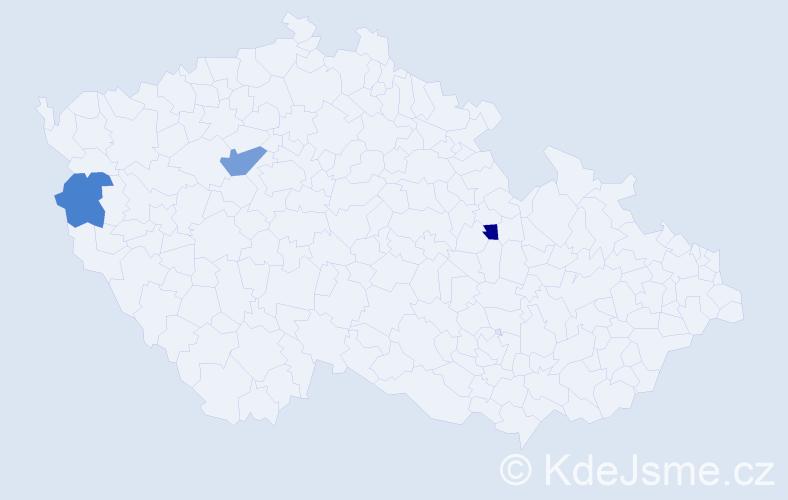 Příjmení: 'Dolínský', počet výskytů 7 v celé ČR