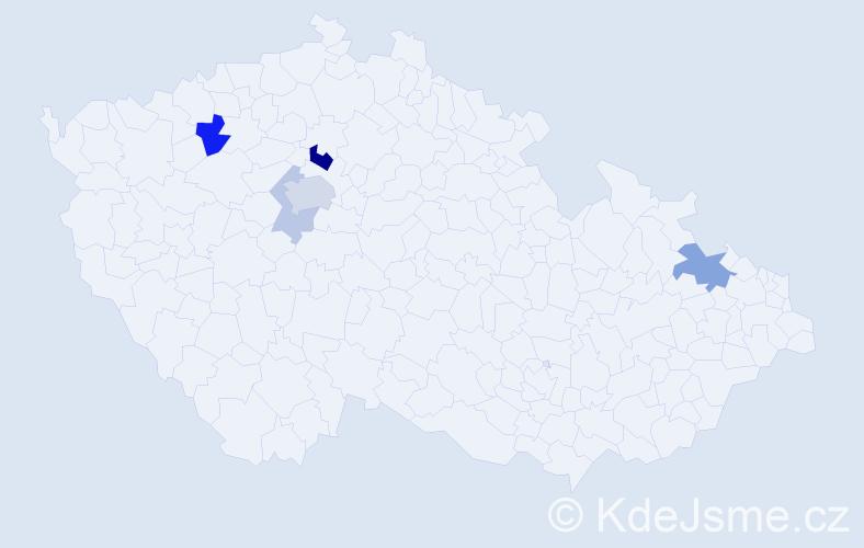 Příjmení: 'Cilcová', počet výskytů 12 v celé ČR