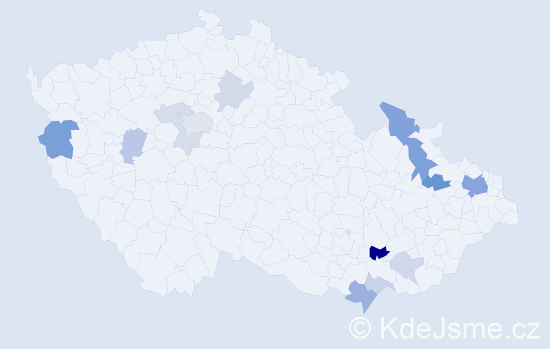 Příjmení: 'Cabala', počet výskytů 31 v celé ČR
