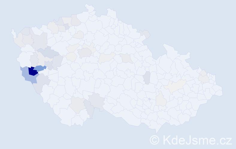 Příjmení: 'Herianová', počet výskytů 180 v celé ČR