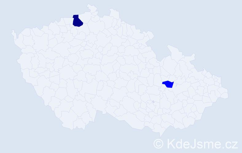 Příjmení: 'Grejtovská', počet výskytů 6 v celé ČR