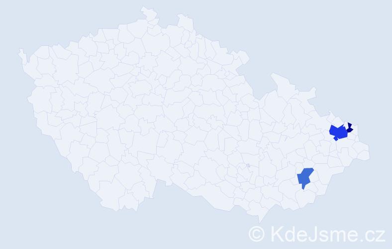 Příjmení: 'Gaidadzisová', počet výskytů 5 v celé ČR