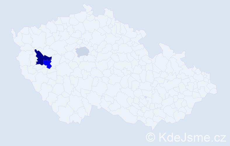 Příjmení: 'Kusniarik', počet výskytů 4 v celé ČR