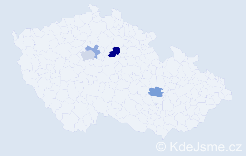 Příjmení: 'Horbasová', počet výskytů 7 v celé ČR