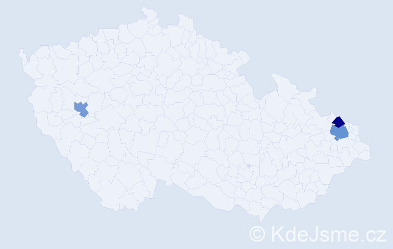 Příjmení: 'Irzik', počet výskytů 4 v celé ČR