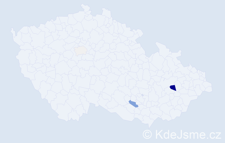 Příjmení: 'Filiač', počet výskytů 8 v celé ČR
