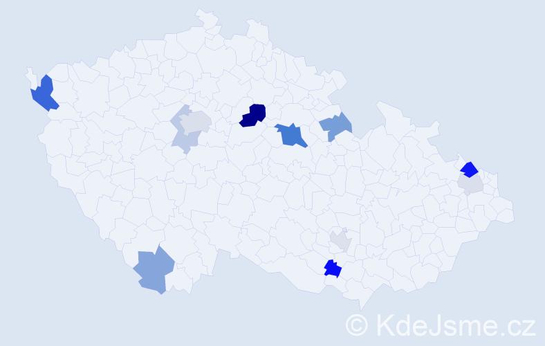 Příjmení: 'Eppinger', počet výskytů 23 v celé ČR
