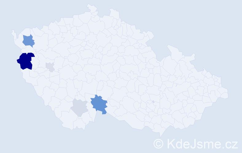 Příjmení: 'Ifkovich', počet výskytů 15 v celé ČR