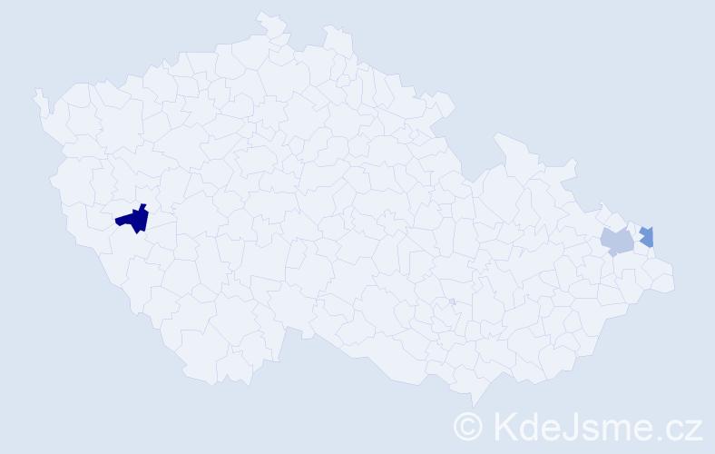 Příjmení: 'Gluczová', počet výskytů 3 v celé ČR