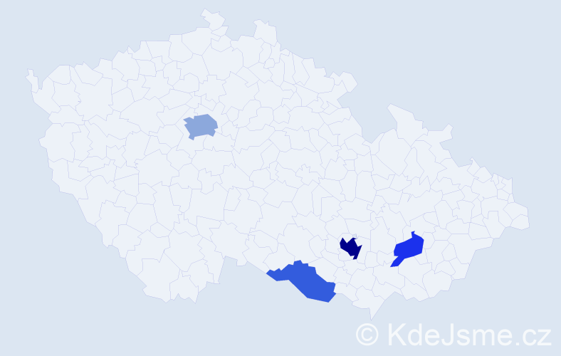 Příjmení: 'Gránová', počet výskytů 10 v celé ČR