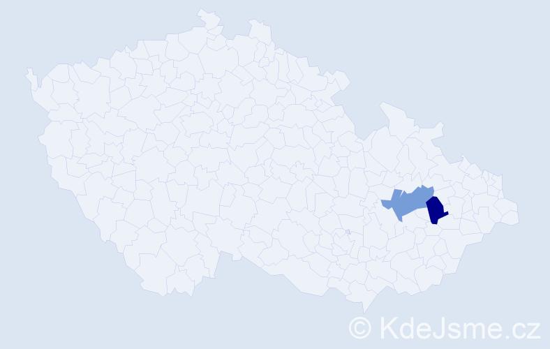 Příjmení: 'Ivanušcová', počet výskytů 4 v celé ČR