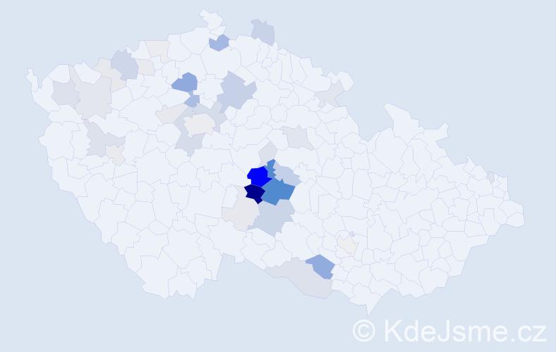 Příjmení: 'Drahozal', počet výskytů 138 v celé ČR