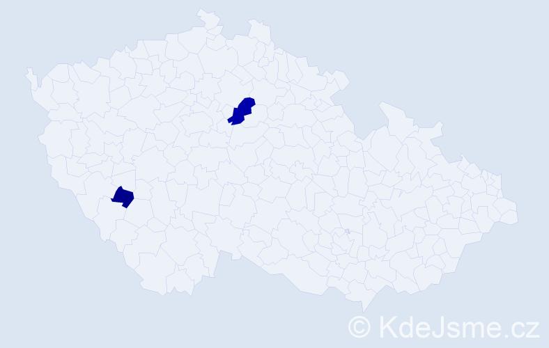 Příjmení: 'Mamisová', počet výskytů 4 v celé ČR